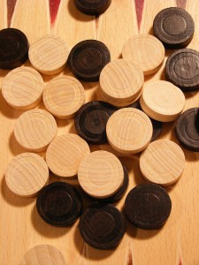 Backgammon Steine zum Spielen